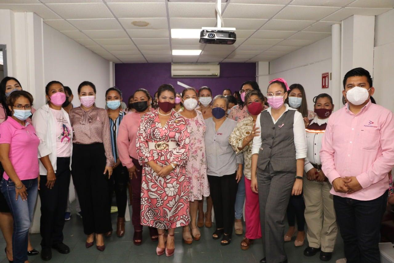 Realiza Gobierno de Cárdenas en conjunto con la Fundación Mobility ADO evento conmemorativo por el Día Internacional de la Lucha Contra el Cáncer de mama.